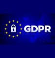 gdpr general data protection regulation data vector image
