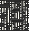 geometric seamless pattern with stripes squares vector image vector image