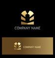 gold gate door shape logo vector image vector image