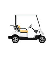 golf car isolated icon in flat design vector image
