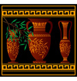 greek red amphoras and jug vector image