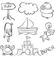 holiday object doodles vector image vector image
