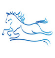 horse and dog line art logo symbol vector image
