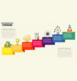 infographic with business icons seven steps vector image vector image