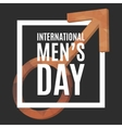 International Men Day vector image vector image