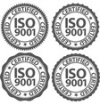 iso 9001 certified sign set vector image vector image