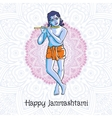 Krishna playing the flute for vector image vector image