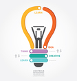lightbulb infographics vector image vector image