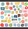 modern badges and stickers collection vector image vector image