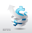 Modern Design business graph concept vector image vector image