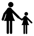 mother and child icon vector image