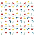 Nautical Colored Pattern vector image vector image