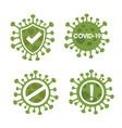 novel corona virus or covid-19 vector image