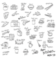 objects in kitchen icon set vector image vector image