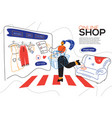 online shop - colorful flat design style web vector image