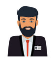operator consultant man icon design vector image