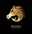 pegasus company logo for professional riders with vector image