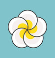 plumeria flower filled outline icon vector image vector image