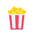 pop corn in big cup poster vector image vector image