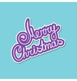 Purple Text Merry Christmas on Green Background vector image vector image