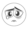 sad face emoticon icon vector image vector image