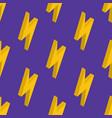 seamless pattern lightning on a violet vector image