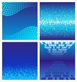 Set of dark blue technology background vector image vector image