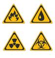 set signs hazard vector image