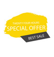 special offer twenty four hours best sale banner v vector image vector image