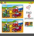 spot the differences with cars and vehicles vector image vector image