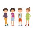 stylish boys and girls vector image vector image