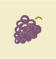 stylized flat icon of a grape vector image vector image