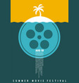 summer movie festival simple minimalist poster vector image vector image