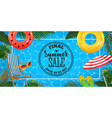 summer sale banner with realistic inflatable rings vector image