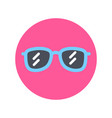 sunglasses icon sun glasses for summer vacation vector image vector image