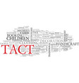 tact word cloud concept vector image vector image