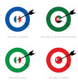 target with flags set vector image