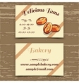 Template Business Card Bakery vector image vector image