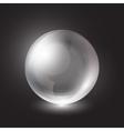 transparent sphere on a black background vector image vector image