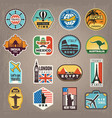 travel stickers vacation badges or logos for vector image vector image