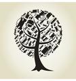 Tree car vector image vector image