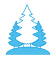 trees pines isolated vector image vector image