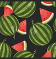 watercolor watermelon pattern vector image vector image