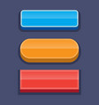buttons for games user interface vector image