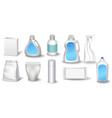 a set of bottles of detergents for washing blank vector image