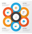 air flat icons set collection of banner the vector image vector image
