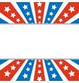 american abstract flag rays frame border vector image vector image