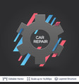 black badge gear sticker vector image vector image