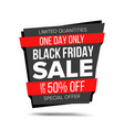 black friday sale banner website sticker vector image vector image