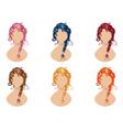 Braided Hair Style vector image